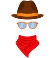 colorful cartoon western avatar vector image