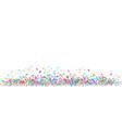 colorful confetti border on white background vector image vector image