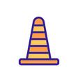 cone car accessory icon outline vector image vector image