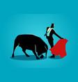 courageous businessman being a matador vector image vector image