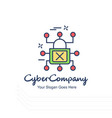 cyber company lock logo with white background and vector image