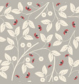 endless pattern with flowers and ladybugs vector image vector image