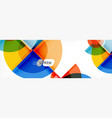 fantastic circle modern geometric vector image vector image