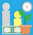 finance success and growth vector image