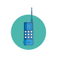 first mobile phone icon vector image