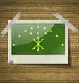 Flags Adygea at frame on a brick background vector image