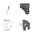 food accessories tool and other monochrome icon vector image vector image