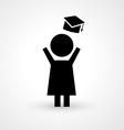 Graduation icon vector image
