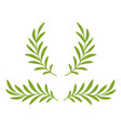 green olive branches with leaves and wreath vector image vector image