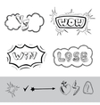 hand drawing sticker vector image vector image