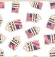 hang tag made in america sticker with flag vector image vector image