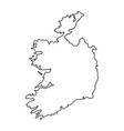 ireland map of black contour curves of vector image