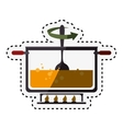 kitchen pot cooking icon vector image
