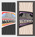 layouts for madrid vector image vector image