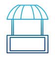 market stall symbol vector image