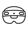 mixed reality hololens 2 headset line icon vector image vector image