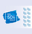 paint blue banner collection off with share vector image