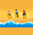 people relaxing on beach vector image vector image