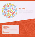 pet food concept with thin line icons vector image vector image