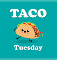 poster design with taco character vector image vector image