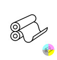 printing rollers icon 3d typography print symbol vector image