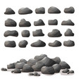 rock stone cartoon in flat style set of different vector image vector image