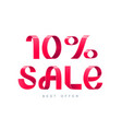 sale 10 percent off vector image vector image