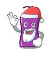 santa shampo mascot cartoon style vector image vector image