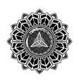 scandinavian tattoo 0004 vector image vector image