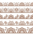 seamless borders or patterns in indian style vector image