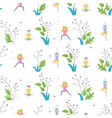 seamless pattern made yoga class vector image