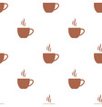 seamless pattern with flat coffee cups vector image vector image