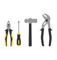 set repair instruments icon pliers screwdriver vector image vector image