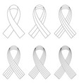 set wrapped ribbons with a different number vector image