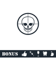 Sniper skull icon flat vector image vector image