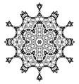 snowflake mandala vintage decorative elements vector image vector image
