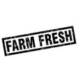 square grunge black farm fresh stamp vector image vector image