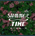 summer time hand written lettering vector image vector image
