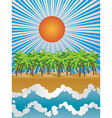 Sunny tropical island vector image vector image