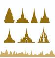thailand pagoda vector image vector image