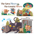 town mouse and country mouse vector image vector image