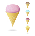 waffle cones vector image vector image