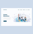 web design flat modern concept - global educationn vector image vector image