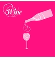 wine bottle silhouette vector image vector image