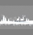 winter paper landscape vector image