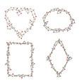 xmas light bulbs frame set heart diamond oval vector image vector image