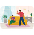 Young couple quarreling man and woman shout at