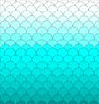 Background Fish scales blue pattern cute vector image