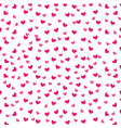 cute pink love heart decoration seamless pattern vector image