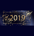 2019 happy new year background with golden vector image